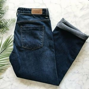 NWT New Zara Basic Straight Leg Crop Jeans Sz 6